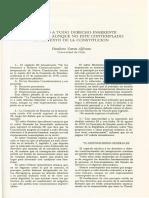 VARAS, Paulino - (1993) El respeto a todo derecho inherente a la persona aunque no esté contemplado en el texto de la constitución