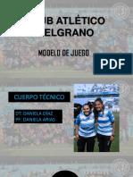 MODELO DE JUEGO- BELGRANO DE CORDOBA