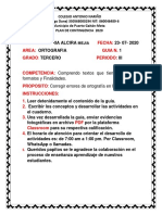 1.   PLAN DE CONTINGENCIA ORTOGRAFIA 3  PERIODO