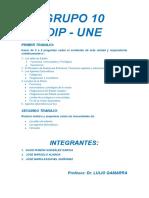 G10 DIP UNE - RELACIONES DIPLOMATICAS