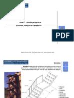 Aula 5 _ Circulação Vertical Escadas, Rampas e Elevadores