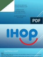 Empresa IHOP Trabajo Final