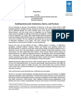 1 Building Democratic Institutions, Norms, and Practices