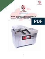 MANUAL DE INSTRUCCIONES Y CONDICIONES DE INSTALACIÓN MSA400DC - MSA 600DC TRIFÁSICA