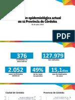 Situación epidemiológica de Córdoba - 30 de julio
