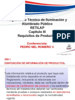 Requisitos de Productos Para Iluminacion Segun Retilap