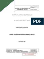 MANUAL INFORME DE GESTION CDB