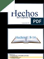 Libro de  Hechos - capítulos 1 y 2
