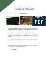Pisos Térmicos - ECONOMIA DE COLOMBIA