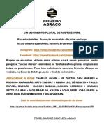Press Release Primeiro AbraçoFINAL