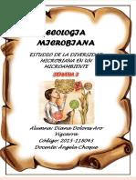 ECOLOGIA MICROBIANA seguimiento 4ta semana