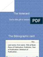 The Notecard