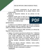 ANALISIS FORENSE DE PINTURA COMO EVIDENCIA TRAZA
