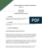 FORMATO PROTOCOLO DE BIOSEGURIDAD