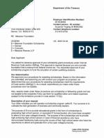 Scholarship Approval Letter (02423468xA9B4D)