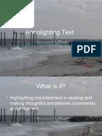 Annolighting Text