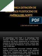 SINCRÓNICA EXTINCIÓN DE MAMÍFEROS PLEISTOCENO DE AMÉRICA DEL