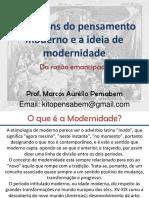 As origens do pensamento moderno e a ideia de modernidade.pdf