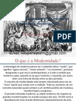 (Aula 1) As origens do pensamento moderno e a ideia de modernidade