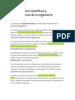 Fundamentos científicos y metodológicos de la Ingeniería Industrial