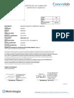 certificados de calibración