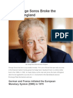 How George Soros Broke the Bank of England