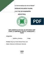 Plantilla de Implementación ERP