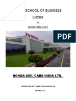 REPORT OF THE INDUSTRIAL VISIT TO HONDA