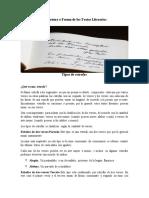 Estructura o Forma de los Textos Literarios