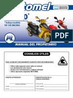 VX 150 _ _ Incluye modelo VX 150 RACING MANUAL DEL PROPIETARIO