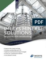 Brochure - IMERYS MINERAL SOLUTIONS for plastic film antiblocking