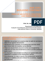 AAR 3202 FORM OF ARCHITECTS PRACTICES AND RESPONSIBILTIES