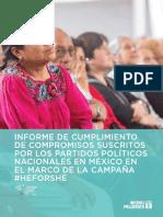 Informe de Cumplimiento Compromisos HeForShe Partidos Polticos Nacionales