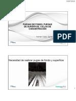 purga de fondo y de superficie y ciclos de concentración