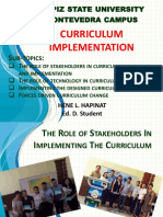 CURRICULUM EVALUATION AND IMPLEMENTATION