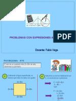 problemas con expresiones algebraicas