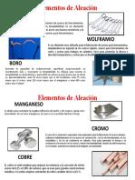 ELEMENTOS DE ALEACIÓN