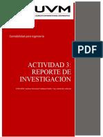 Actividad 3. Reporte de investigación