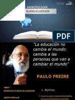 Antroplogia Filosofica de la Educación