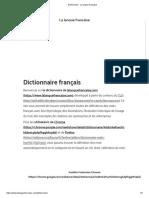 Dictionnaire - La langue française