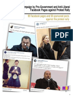 Organized Campaign by Pro-Government and Anti-Liberal Facebook Pages against Protest Rally