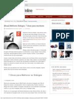 [Dicas] Melhores Diálogos_ 7 dicas para escritores - Folhetim Online