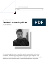 Pakistan's economic policies - Newspaper - DAWN.COM