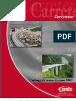 Catalogo de Costos Directos Carreteras