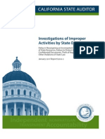 Investigations of Improper Activities by State Employees