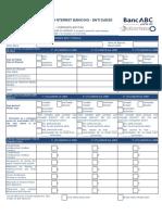 Formulario de Adesão ao Internet Banking - Entidades Corporativas v3 201...