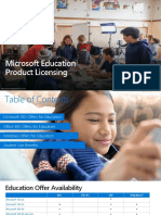 Microsoft Education Product Licensing Deck - Internal