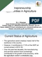 Entrepreneurship opportunities in agriculture