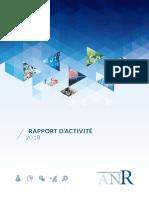 Rapport d'activité 2018 de l'ANR