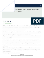 Bevan Brittan - New Immigration Rules And Brexit Increase Recruitment Concerns